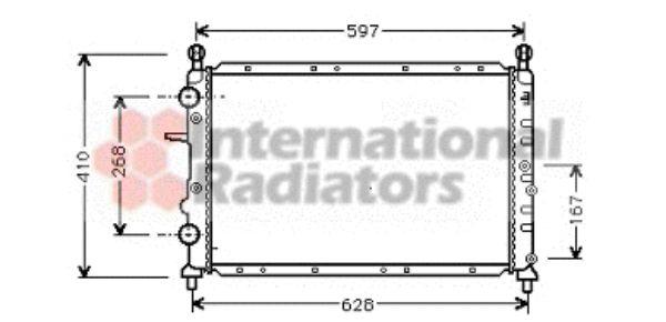 Radiateur, refroidissement du moteur - VAN WEZEL - 17002322