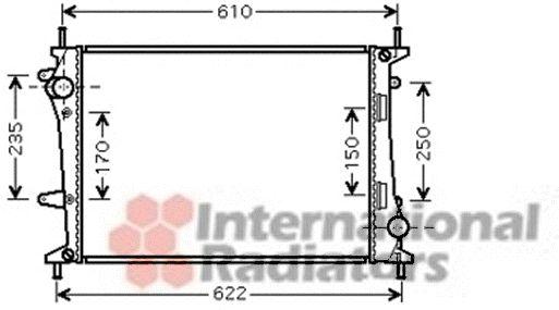 Radiateur, refroidissement du moteur - VAN WEZEL - 17002329
