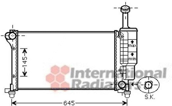Radiateur, refroidissement du moteur - VAN WEZEL - 17002335