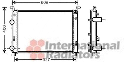 Radiateur, refroidissement du moteur - VAN WEZEL - 17002336