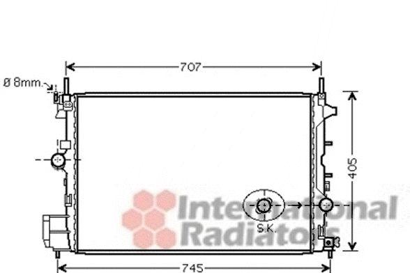 Radiateur, refroidissement du moteur - VAN WEZEL - 17002338