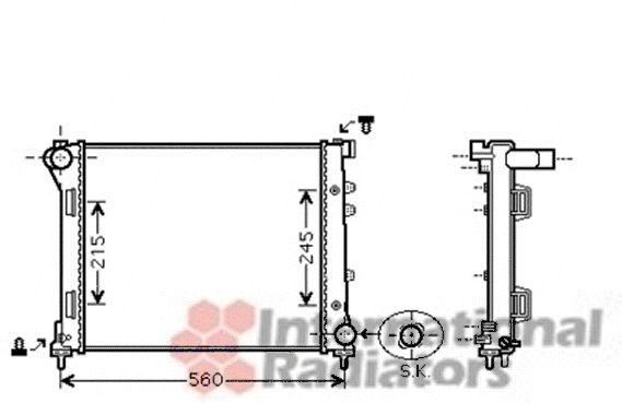 Radiateur, refroidissement du moteur - VAN WEZEL - 17002346