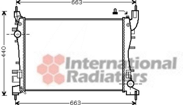 Radiateur, refroidissement du moteur - VAN WEZEL - 17002358