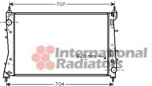 Radiateur, refroidissement du moteur - VAN WEZEL - 17002359