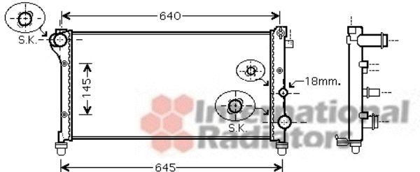 Radiateur, refroidissement du moteur - VAN WEZEL - 17002362