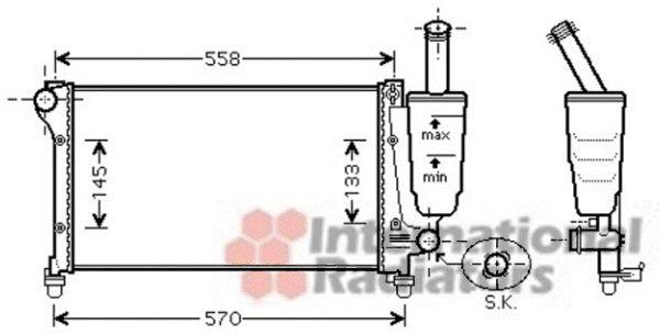 Radiateur, refroidissement du moteur - VAN WEZEL - 17002368