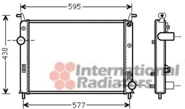 Radiateur, refroidissement du moteur - VAN WEZEL - 17002371