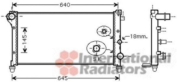 Radiateur, refroidissement du moteur - VAN WEZEL - 17002379