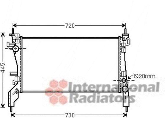 Radiateur, refroidissement du moteur - VAN WEZEL - 17002385