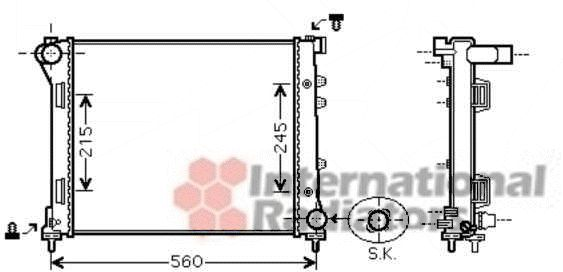 Radiateur, refroidissement du moteur - VAN WEZEL - 17002387