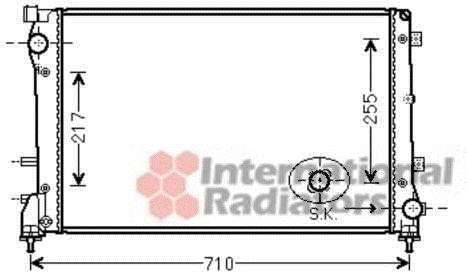 Radiateur, refroidissement du moteur - VAN WEZEL - 17002390