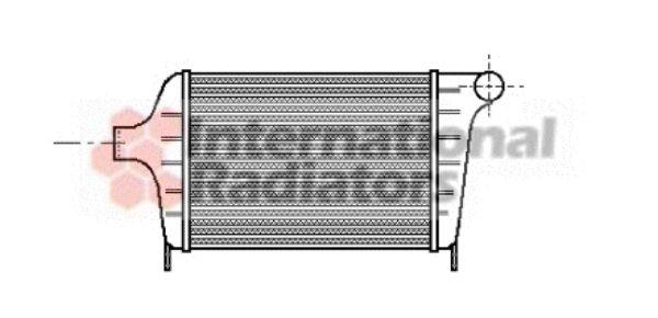 Intercooler, échangeur - VAN WEZEL - 17004005