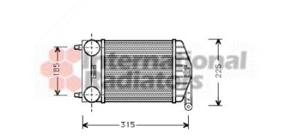 Intercooler, échangeur - VAN WEZEL - 17004189