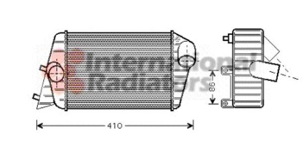 Intercooler, échangeur - VAN WEZEL - 17004252