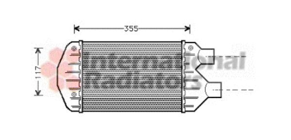 Intercooler, échangeur - VAN WEZEL - 17004267