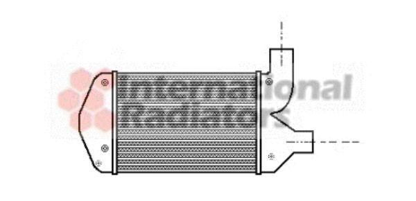 Intercooler, échangeur - VAN WEZEL - 17004269