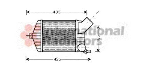 Intercooler, échangeur - VAN WEZEL - 17004274