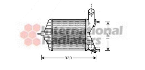 Intercooler, échangeur - VAN WEZEL - 17004280