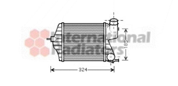 Intercooler, échangeur - VAN WEZEL - 17004309