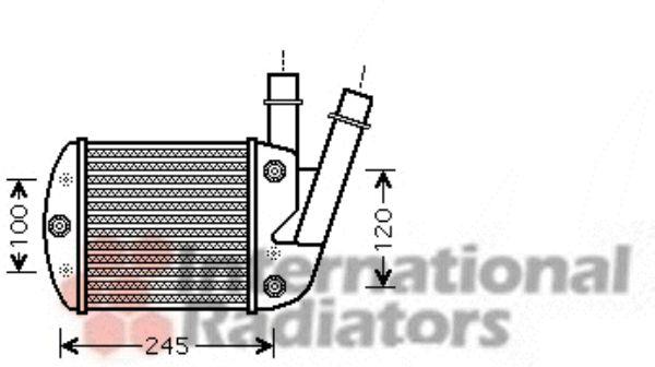 Intercooler, échangeur - VAN WEZEL - 17004340