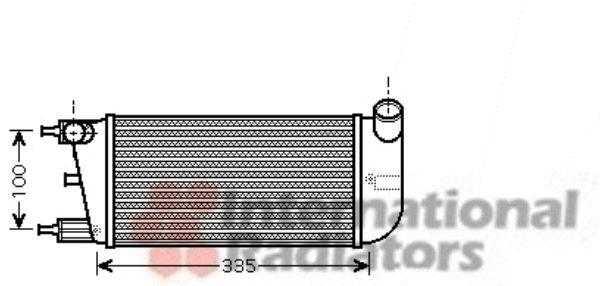 Intercooler, échangeur - VAN WEZEL - 17004352