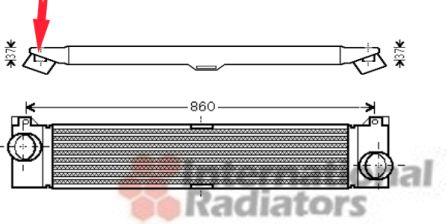 Intercooler, échangeur - VAN WEZEL - 17004353