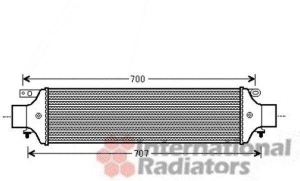 Intercooler, échangeur - VAN WEZEL - 17004364