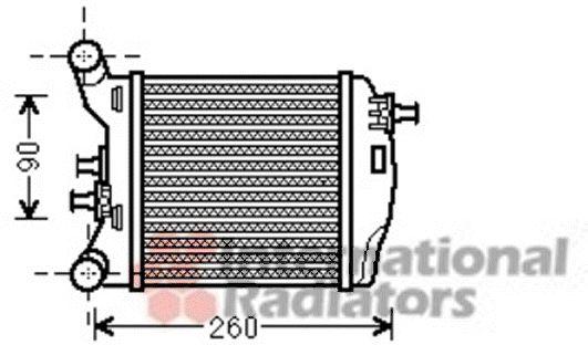 Intercooler, échangeur - VAN WEZEL - 17004375