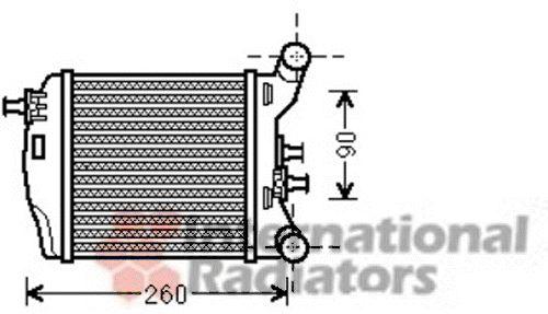 Intercooler, échangeur - VAN WEZEL - 17004376