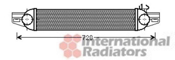 Intercooler, échangeur - VAN WEZEL - 17004388