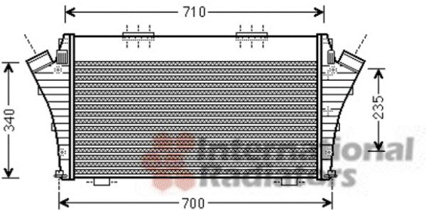 Intercooler, échangeur - VAN WEZEL - 17004389