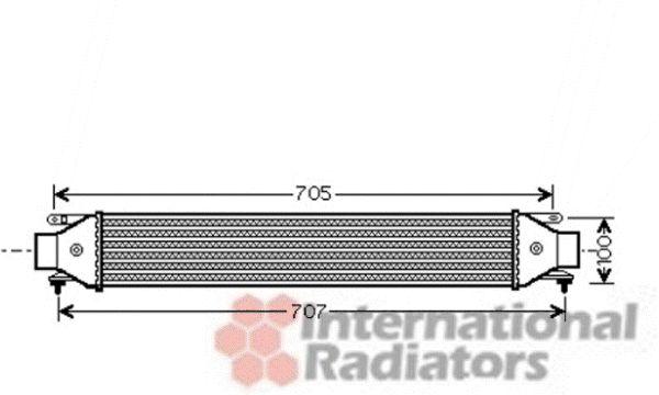 Intercooler, échangeur - VAN WEZEL - 17004392