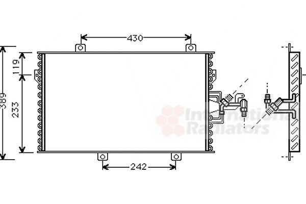 Condenseur, climatisation - VAN WEZEL - 17005153