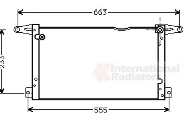 Condenseur, climatisation - VAN WEZEL - 17005154
