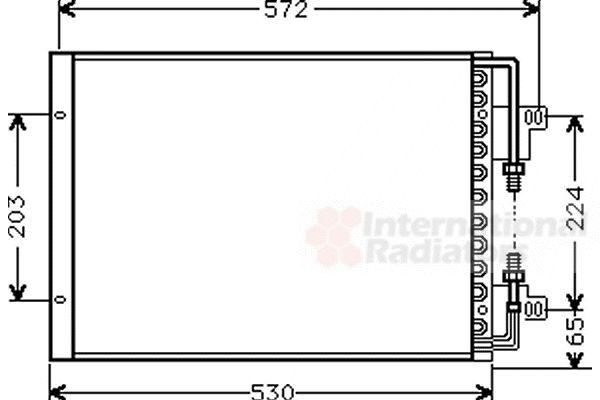 Condenseur, climatisation - VAN WEZEL - 17005155