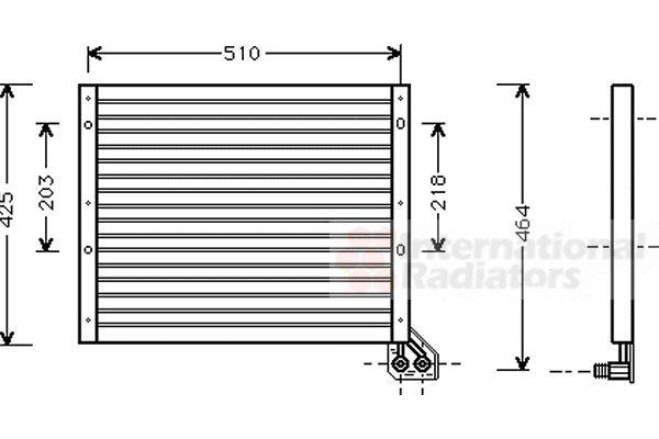 Condenseur, climatisation - VAN WEZEL - 17005156