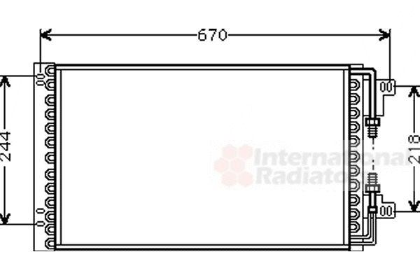 Condenseur, climatisation - VAN WEZEL - 17005157