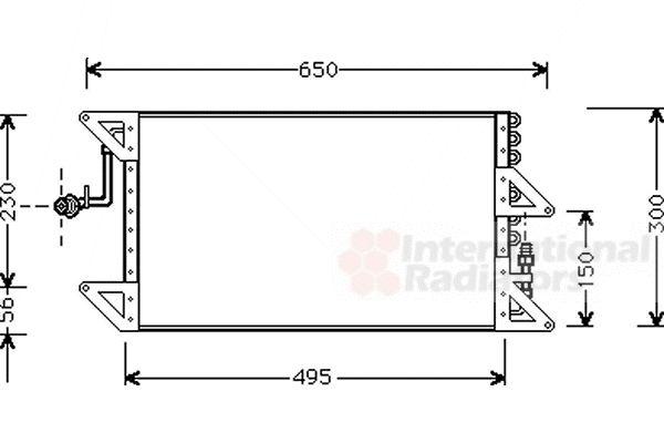 Condenseur, climatisation - VAN WEZEL - 17005170