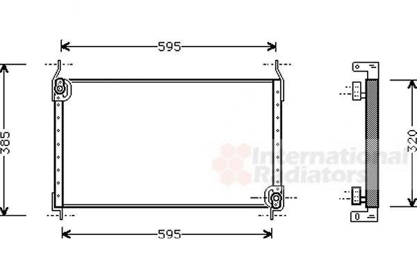 Condenseur, climatisation - VAN WEZEL - 17005173