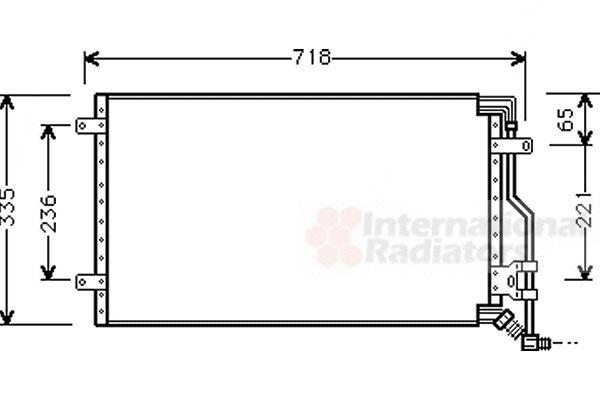 Condenseur, climatisation - VAN WEZEL - 17005175