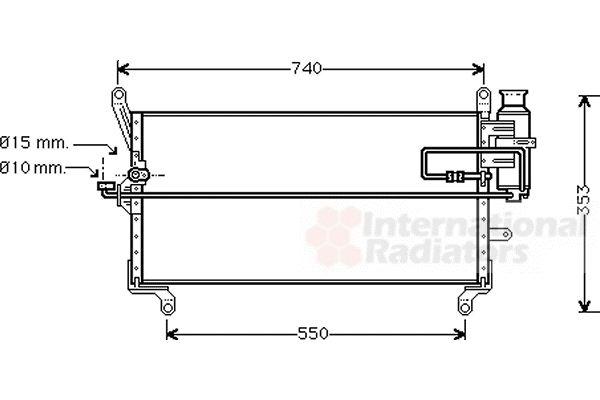 Condenseur, climatisation - VAN WEZEL - 17005178