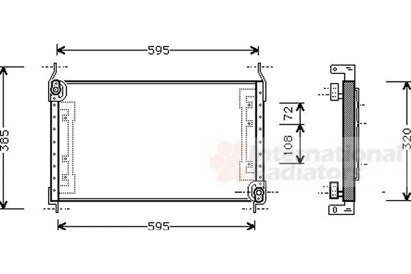 Condenseur, climatisation - VAN WEZEL - 17005194