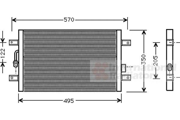 Condenseur, climatisation - VAN WEZEL - 17005196