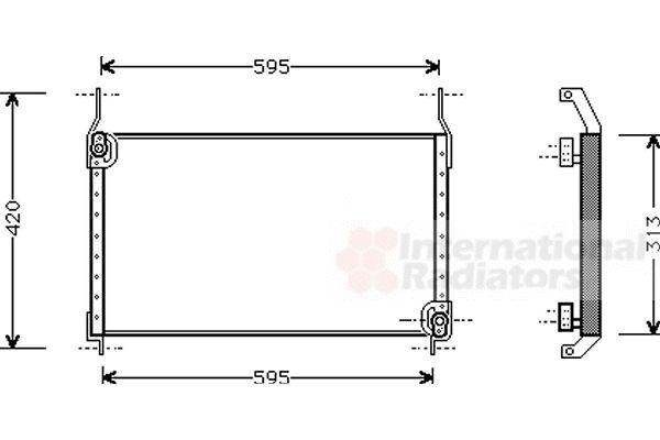 Condenseur, climatisation - VAN WEZEL - 17005204