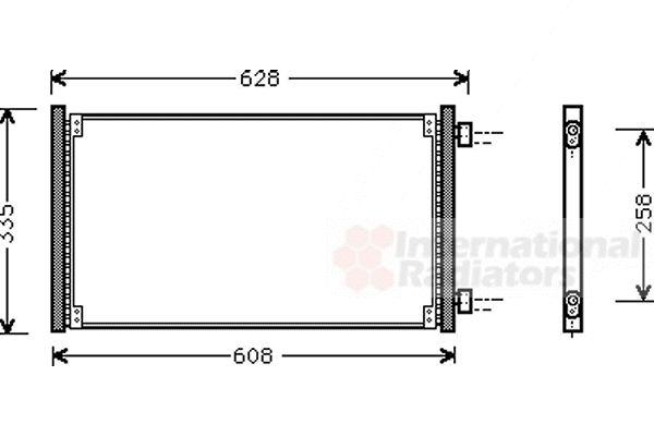 Condenseur, climatisation - VAN WEZEL - 17005213