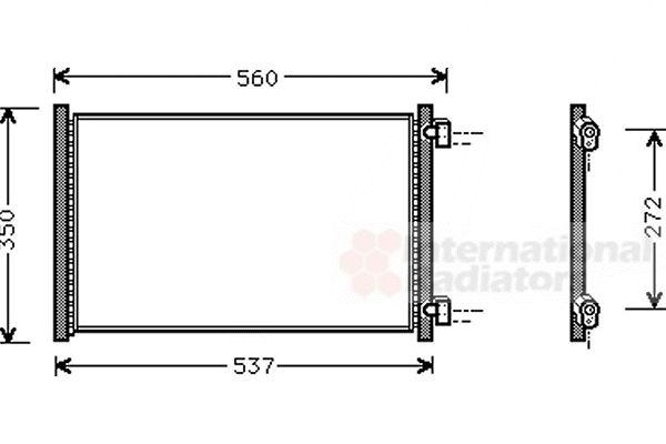 Condenseur, climatisation - VAN WEZEL - 17005214