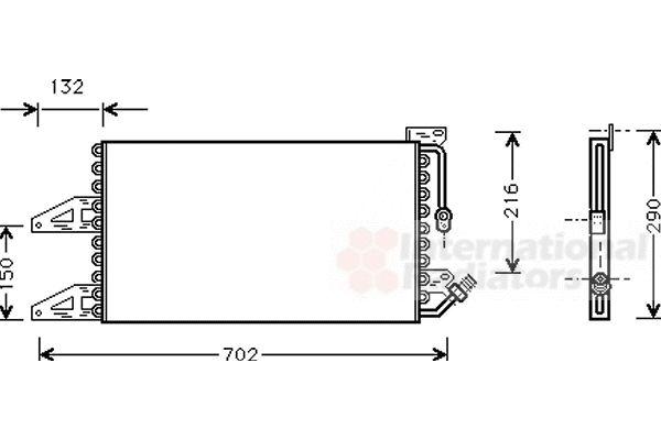 Condenseur, climatisation - VAN WEZEL - 17005215