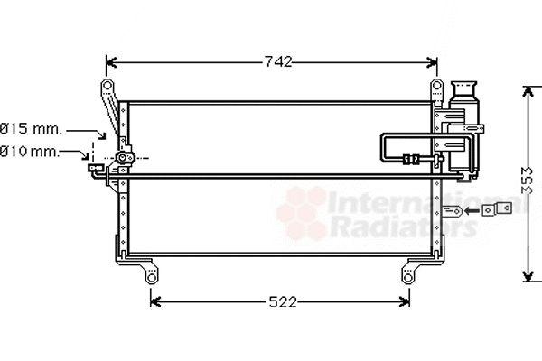 Condenseur, climatisation - VAN WEZEL - 17005216