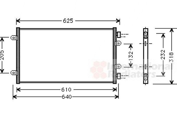 Condenseur, climatisation - VAN WEZEL - 17005219