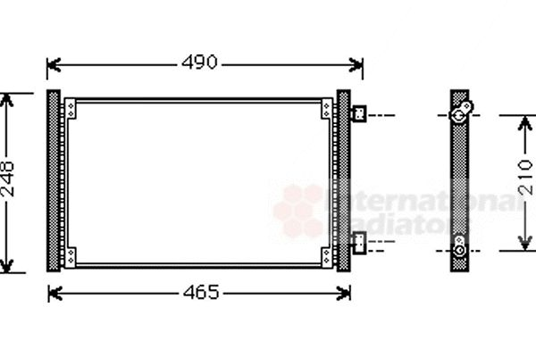 Condenseur, climatisation - VAN WEZEL - 17005223